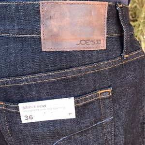 Joe's Jeans Saville Row Straight Fit Slim 36 new!